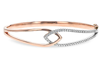C226-35262: BANGLE BRACELET .50 TW (ROSE & WG)